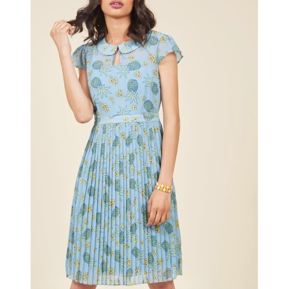 a88d3bd115f MODCLOTH pineapple collar dress plus size 3x